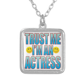 Trust Me Actress Life B Square Pendant Necklace