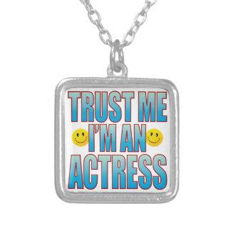 Trust Me Actress Life B Square Pendant Necklace