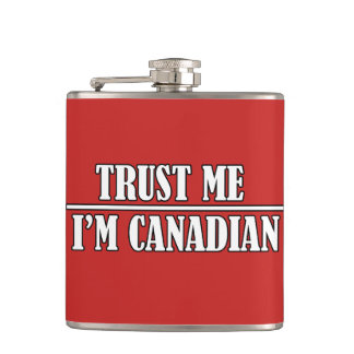 Trust Me Canada Day Flask