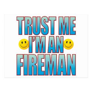 Trust Me Fireman Life B Postcard