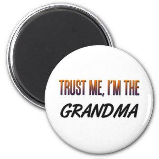 Trust Me Grandma 6 Cm Round Magnet