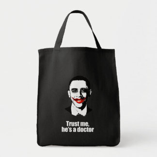 TRUST ME, HE'S A DOCTOR GROCERY TOTE BAG