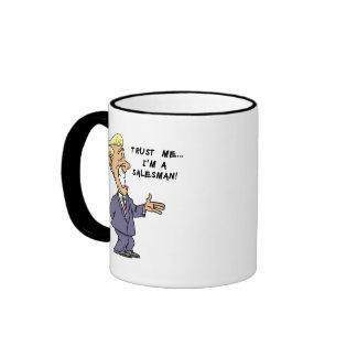 Trust Me I am a Salesman Ringer Mug