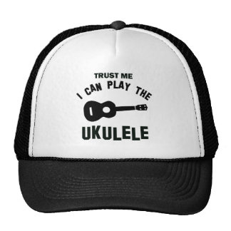 Trust me I can play the ukulele Mesh Hat