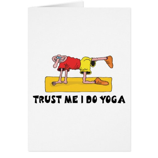 Trust Me I Do Yoga Gift Card