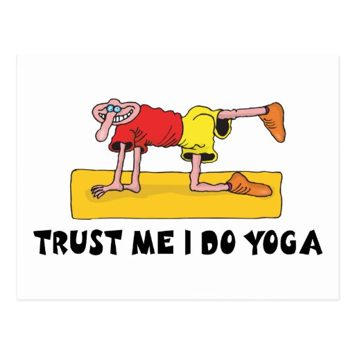 Trust Me I Do Yoga Gift Post Cards