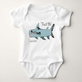 Trust Me..I Don't Bite Shark Baby Bodysuit