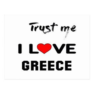 Trust me I love Greece. Postcard