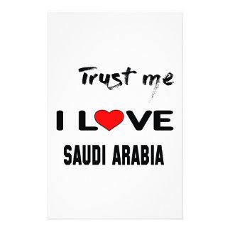 Trust me I love Saudi Arabia. Customized Stationery