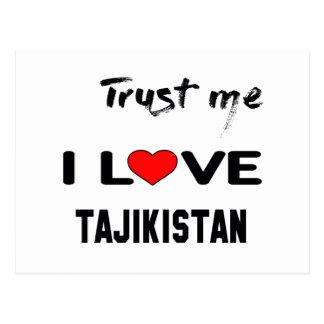 Trust me I love Tajikistan. Postcard
