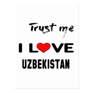Trust me I love Uzbekistan. Postcard
