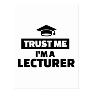 Trust me I'm a lecturer Postcard