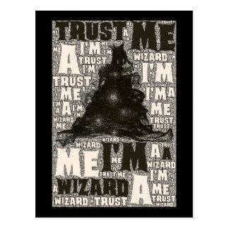 Trust me I m a wizard - postcard