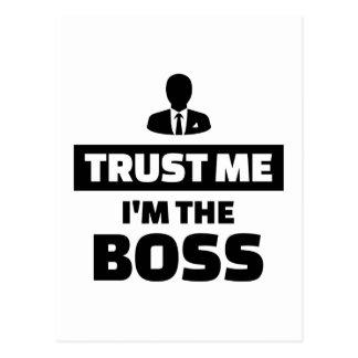 Trust me I'm the boss Postcard