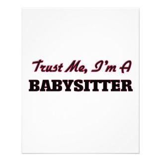Trust me I'm a Babysitter Flyer