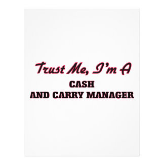 Trust me I'm a Cash And Carry Manager Personalized Flyer