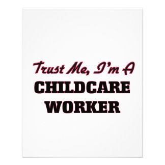 Trust me I'm a Childcare Worker 11.5 Cm X 14 Cm Flyer