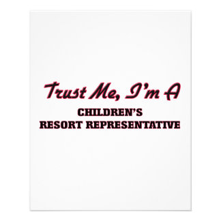 Trust me I'm a Children's Resort Representative Custom Flyer