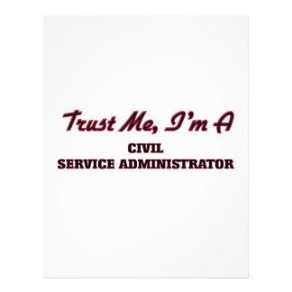 Trust me I'm a Civil Service Administrator Flyer