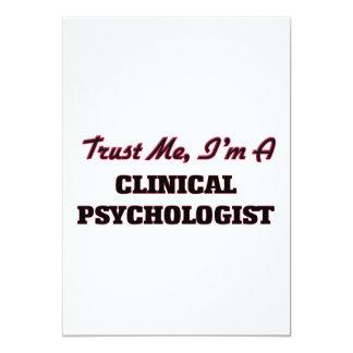 Trust me I'm a Clinical Psychologist 5x7 Paper Invitation Card