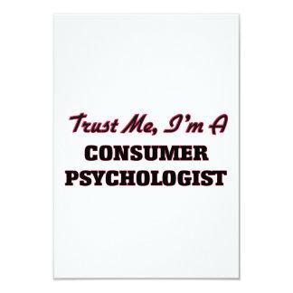 "Trust me I'm a Consumer Psychologist 3.5"" X 5"" Invitation Card"