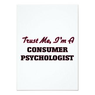 Trust me I'm a Consumer Psychologist 13 Cm X 18 Cm Invitation Card