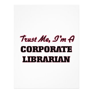 Trust me I'm a Corporate Librarian Flyer