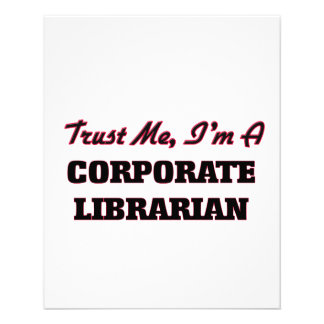 Trust me I'm a Corporate Librarian Flyer Design