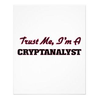 Trust me I'm a Cryptanalyst Flyer