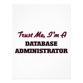 Trust me I'm a Database Administrator Flyer Design