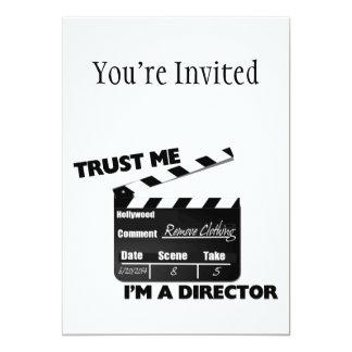 Trust Me I'm A Director Clapboard 13 Cm X 18 Cm Invitation Card