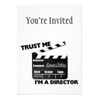 Trust Me I'm A Director Clapboard Invitations