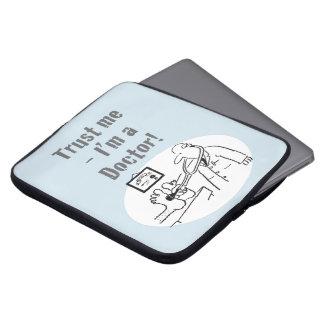 Trust Me - I'm a Doctor! Funny Cartoon Laptop Sleeve
