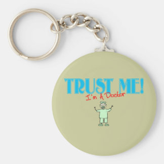 Trust Me I'm A Doctor Stick Art Dr. Keychains