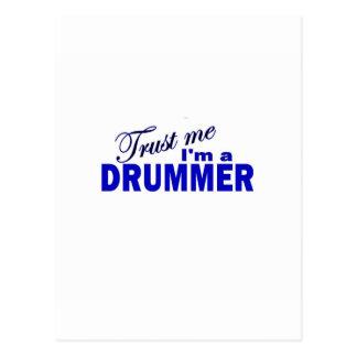 Trust Me I'm a Drummer Postcard