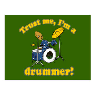 Trust Me Im a Drummer Post Cards
