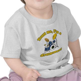 Trust Me Im a Drummer Tee Shirts