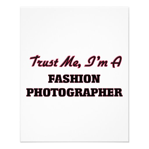 Trust me I'm a Fashion Photographer Flyer Design