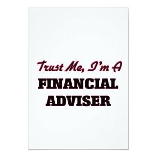 Trust me I'm a Financial Adviser 9 Cm X 13 Cm Invitation Card