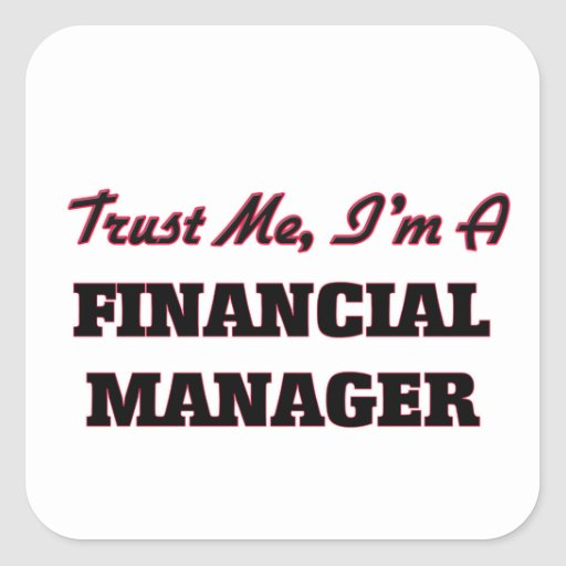 Trust me I'm a Financial Manager Stickers