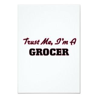 "Trust me I'm a Grocer 3.5"" X 5"" Invitation Card"