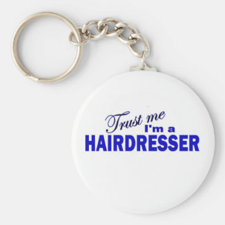 Trust Me I'm a Hair Dresser Basic Round Button Key Ring