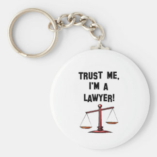 Trust me Im a lawyer Basic Round Button Key Ring