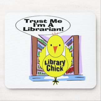 Trust Me I'm A Librarian Mouse Mat
