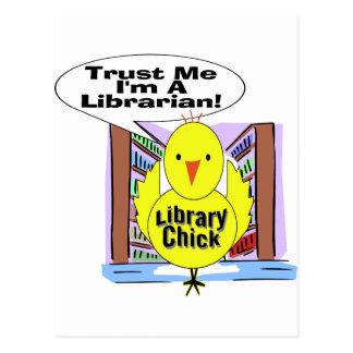 Trust Me I'm A Librarian Postcard