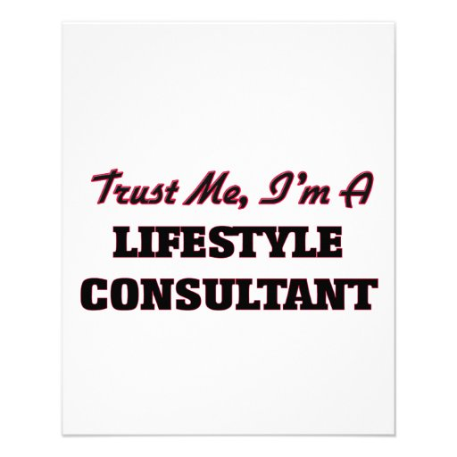 Trust me I'm a Lifestyle Consultant Personalized Flyer