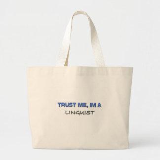 Trust Me I'm a Linguist Jumbo Tote Bag
