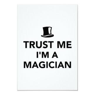"Trust me I'm a magician 3.5"" X 5"" Invitation Card"
