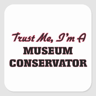 Trust me I'm a Museum Conservator Square Stickers