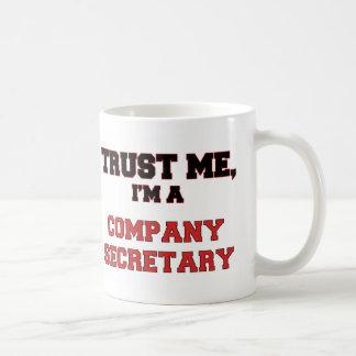 Trust Me I'm a My Company Secretary Basic White Mug